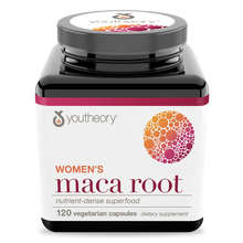 Load image into Gallery viewer, Womens Maca Root 120 Capsules Bottle Front Side