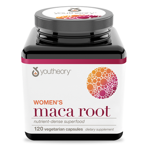 Womens Maca Root 120 Capsules Bottle Front Side