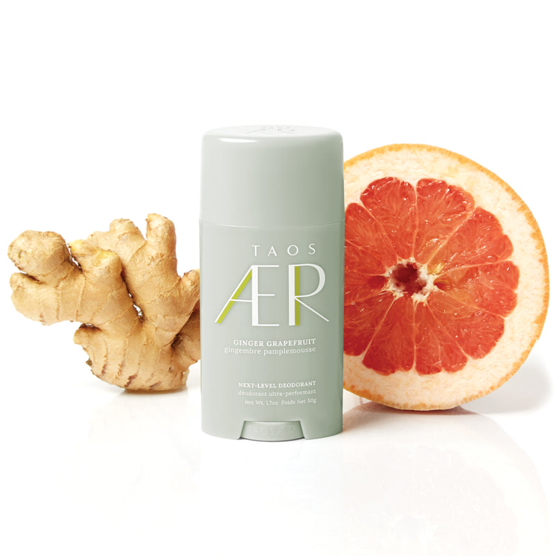 tao aer next-level clean aluminum-free deodorant ginger grapefruit