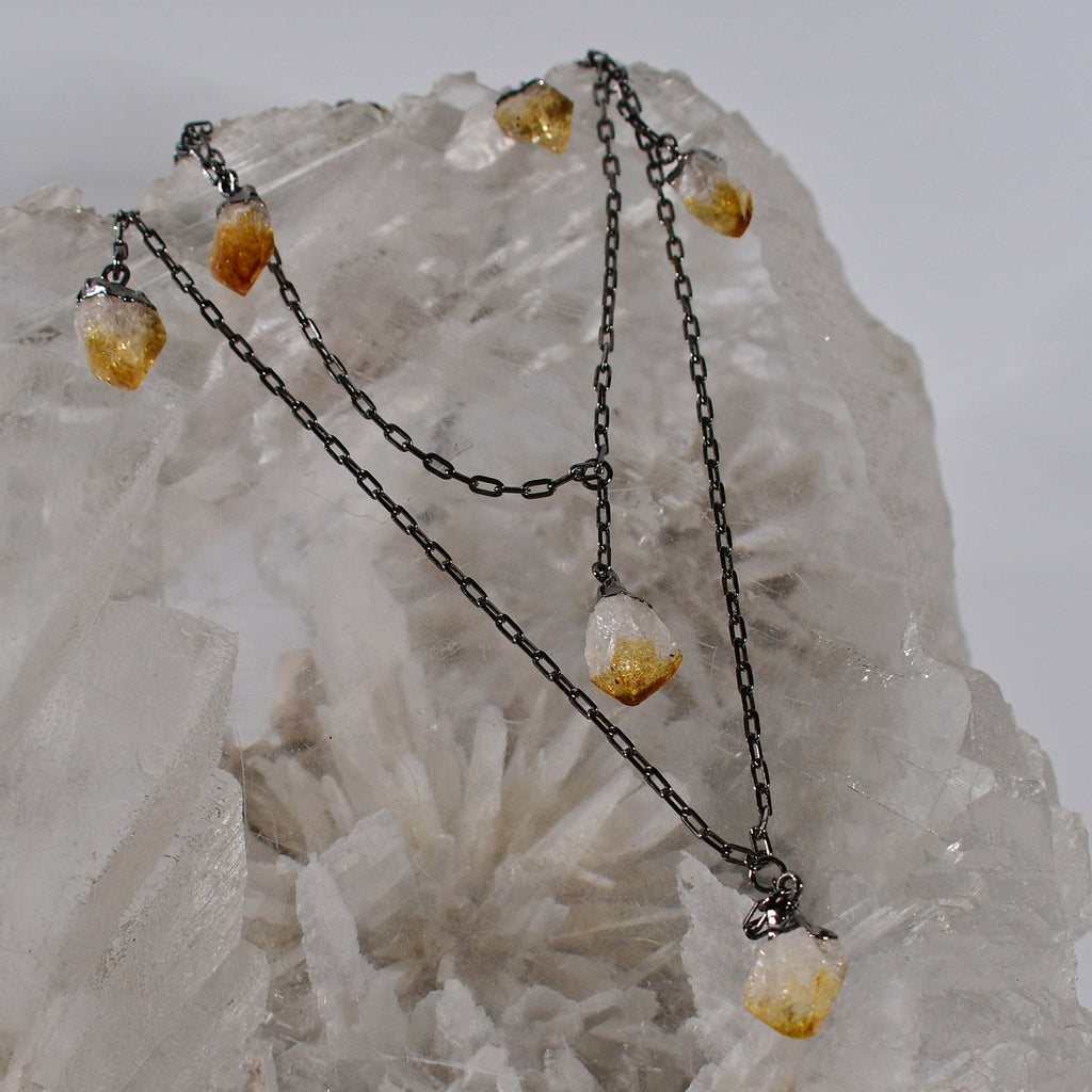 Lucky #7 Citrine Necklace