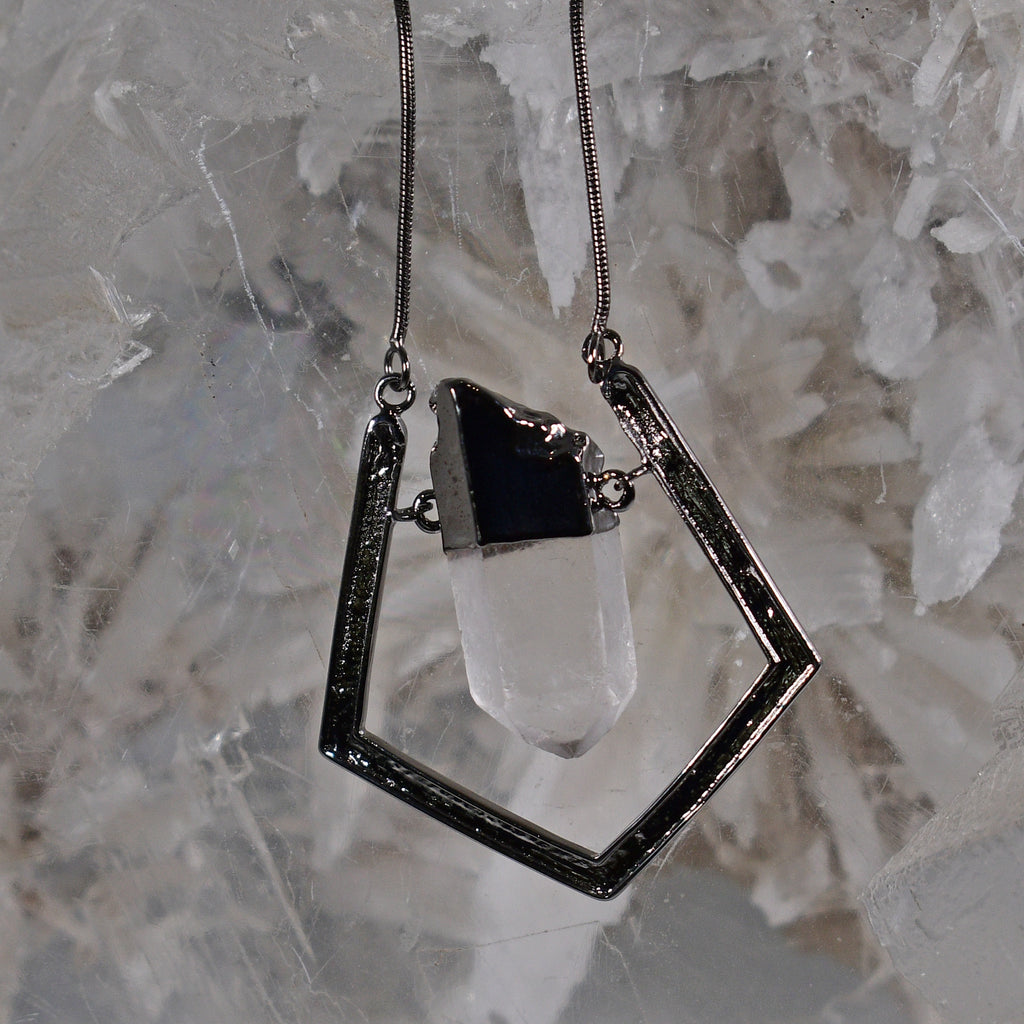 Quartz Crystal Swing Pendant