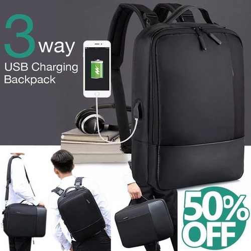 3-in-1 Multi-Function Anti-theft USB Backpack (2019 Edition)