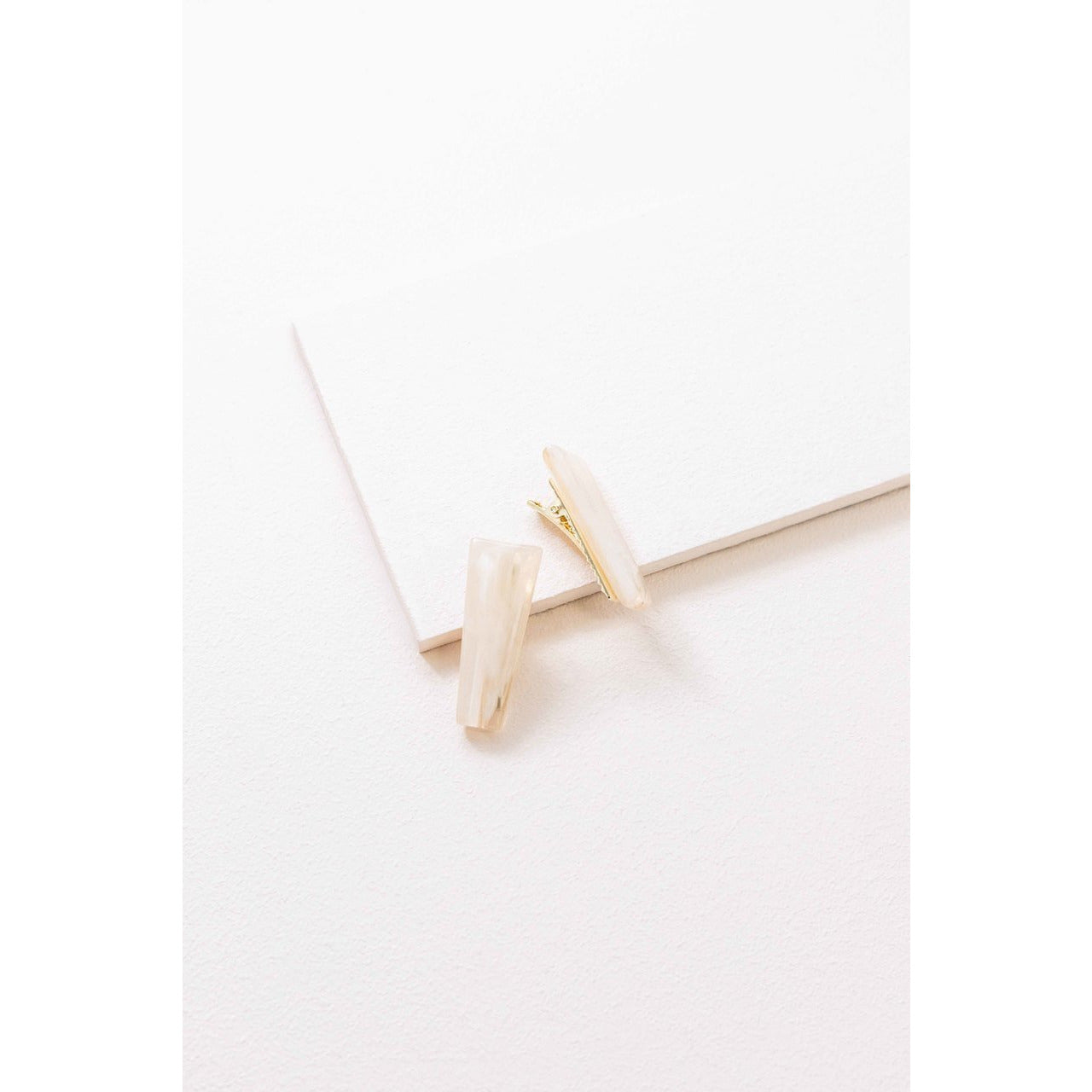 Refined Marble Hair Clip