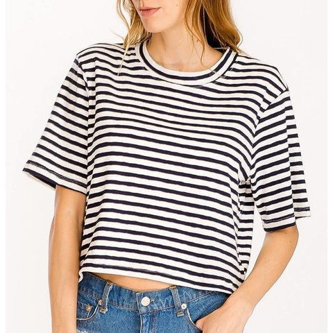 Boxy Stripe Top - Bestowed Shop