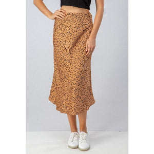 Sahara Satin Midi Skirt