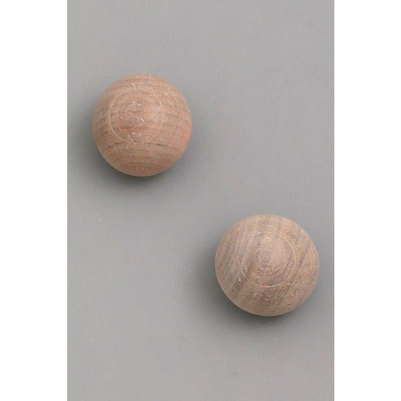 Wooden Round Stud Earrings - Bestowed Shop