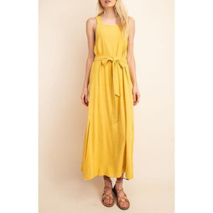 Overall Linen Maxi Dress - Bestowed Shop