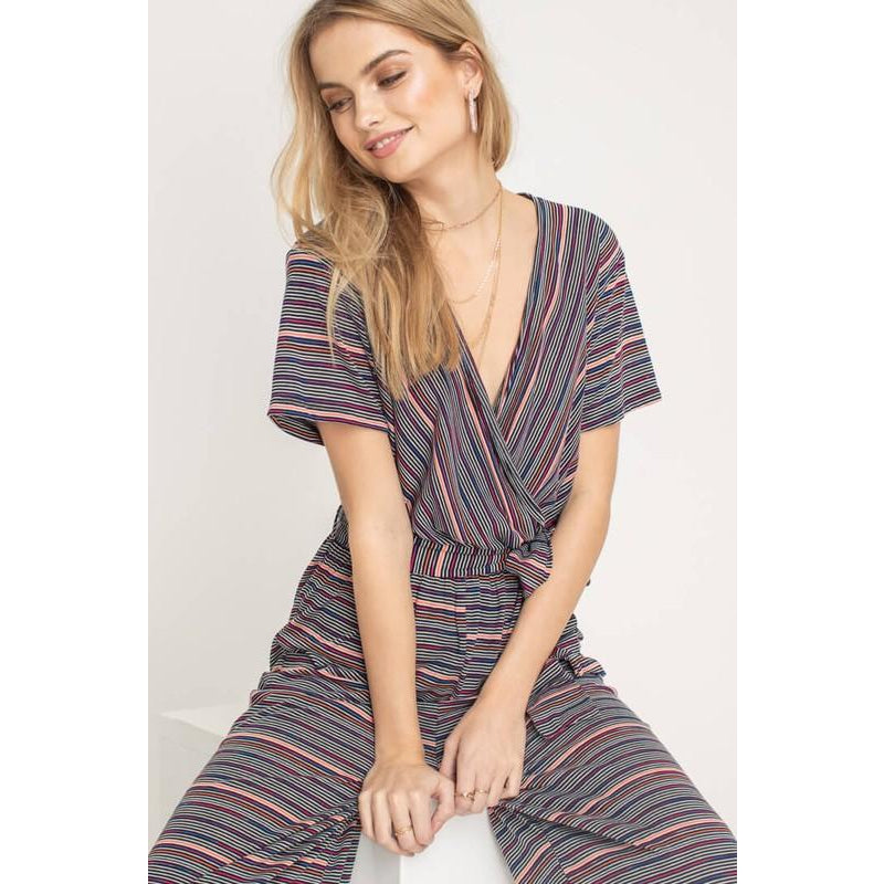 Wrap Style Tunic Jumpsuit - Bestowed Shop