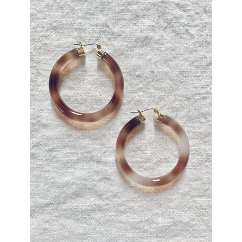 Acetate Hoop Latch Earrings