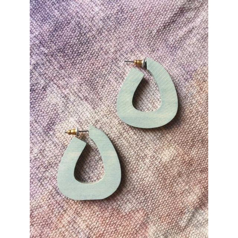 Round Wood Hoop Earrings - Bestowed Shop