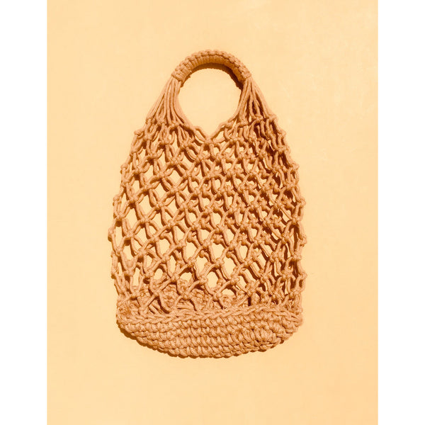 Small Crochet Mesh Beach Bag