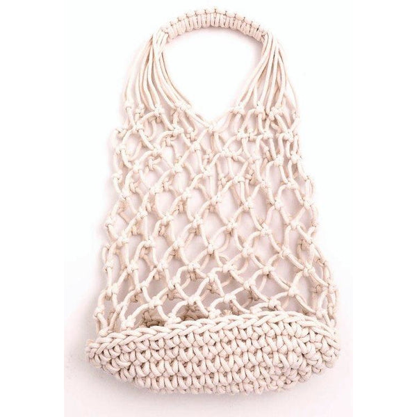 Small Crochet Mesh Beach Bag - Bestowed Shop