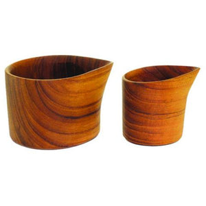 Teak Creamers, Set of 2 - Bestowed Shop