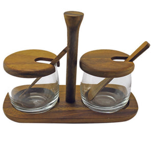 Ombre Mango Wood Tray and Dipping Bowl Set - Bestowed Shop