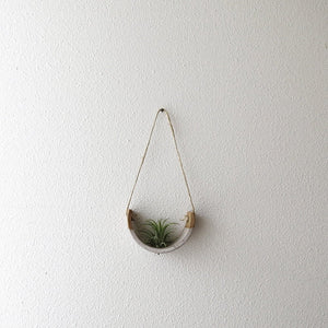 Small Speckle Buff Hanging Air Plant Cradle - Bestowed Shop