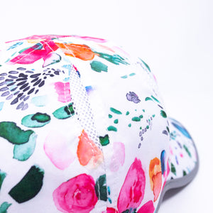 Women's pink painted floral cap baseball hat for running