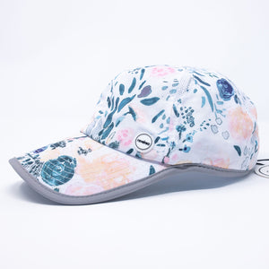 Women's navy floral painted hat baseball cap for running