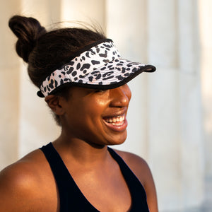 Women's painted leopard visor hat for running
