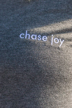 "revelrea ""chase joy"" Crop Tee in Dark Heather Gray"