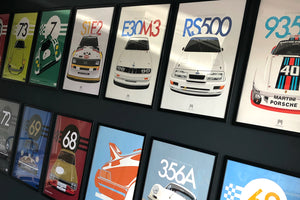 Which frames are suitable for Motive Culture classic car posters?