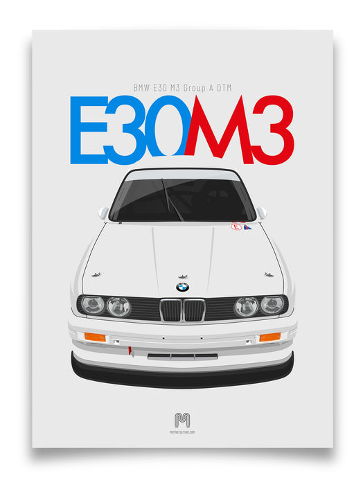 1991 BMW E30 M3 Group A DTM - poster print