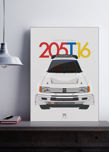 1985 Peugeot 205 T16 Group B - Limited Edition poster print