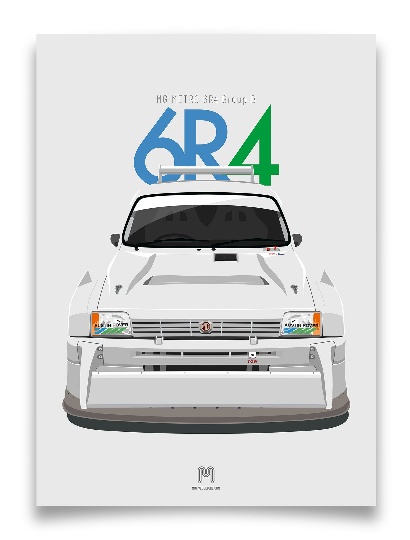 1985 MG Metro 6R4 Group B - Limited Edition Giclée poster print