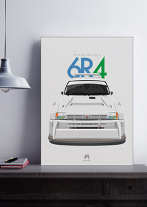 1985 MG Metro 6R4 Group B - poster print