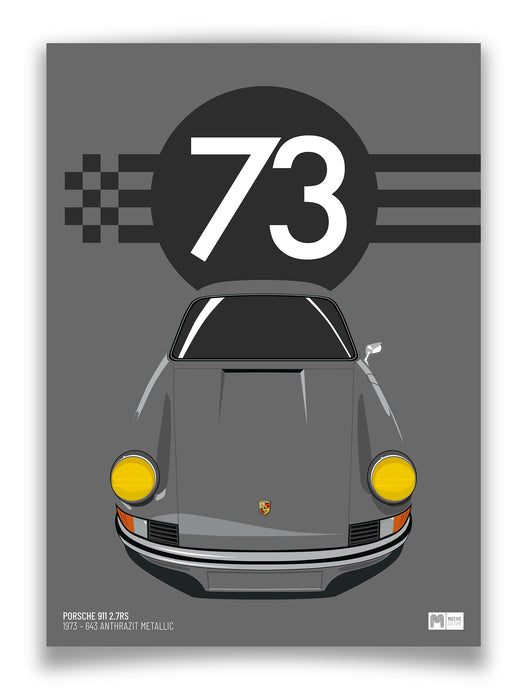 1973 Porsche 911 2.7RS - 643 Anthrazit - Limited Edition poster print
