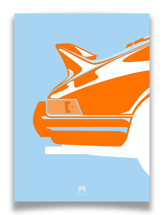 1973 Porsche 911 2.7RS - Gulf Ducktail - Limited Edition Giclée poster print