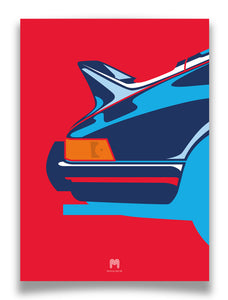 1973 Porsche 911 2.7RS - Martini Ducktail - Limited Edition Giclée poster print