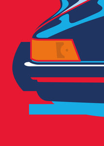 1973 Porsche 911 2.7RS - Martini Ducktail - poster print