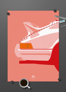 1973 Porsche 911 2.7RS - Pink Pig Ducktail - Limited Edition Giclée poster print