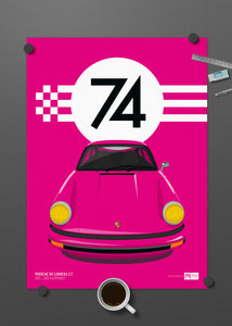 1974 Porsche 911 Carrera 2.7 - 009 Karminrot - Limited Edition poster print