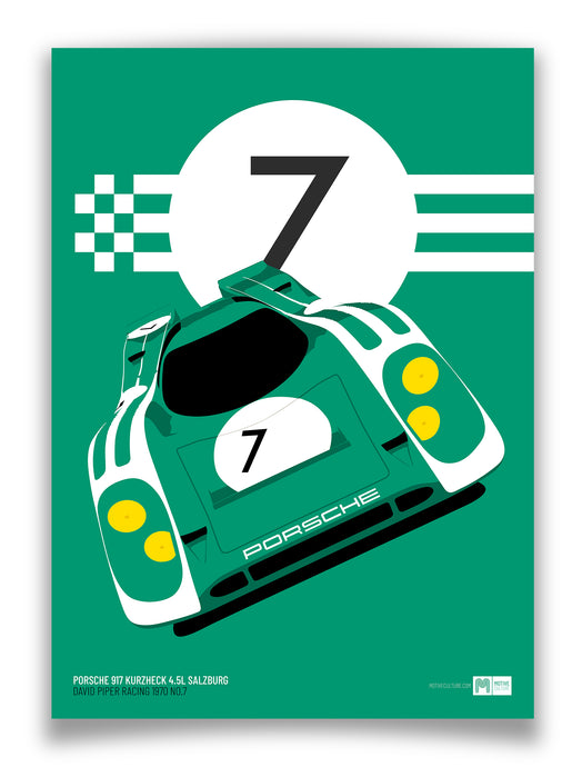 1970 Porsche 917K Salzburg David Piper No.7 - Limited Edition poster print