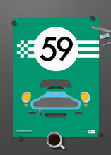 1959 Aston Martin DB4 GT - Almond Green - Limited Edition poster print