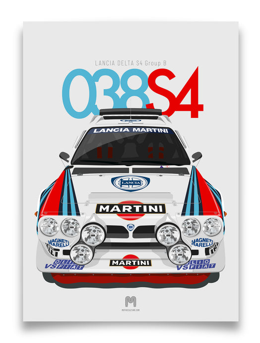 1985 Lancia Delta S4 Group B - Limited Edition poster print