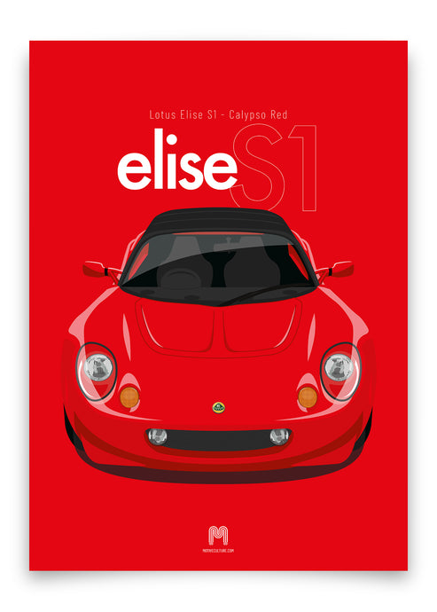 1997 Lotus Elise S1 - Calypso Red - poster print
