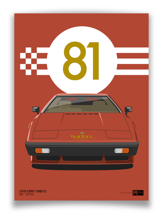 1981 Lotus Esprit Turbo S3 - Copper - Limited Edition poster print