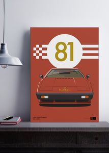 1981 Lotus Esprit Turbo S3 - Copper - poster print