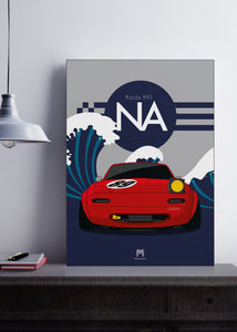 1989 Mazda MX5 Mk1 - Red - Limited Edition poster print