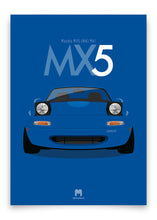1990 Mazda MX5 Mk1 - Mariner Blue - Limited Edition poster print