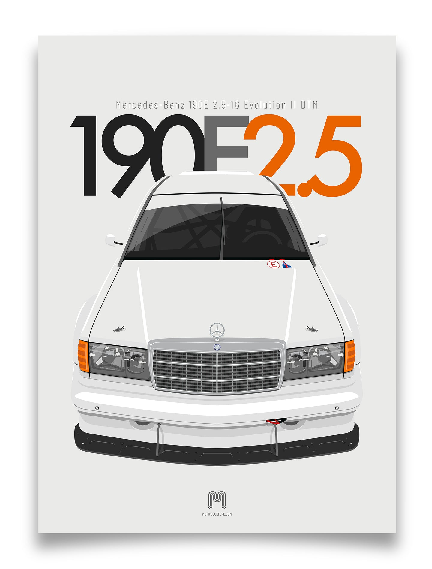1992 Mercedes-Benz 190E 2.5-16 Evolution II DTM - poster print
