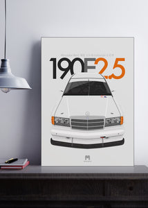 1992 Mercedes-Benz 190E 2.5-16 Evolution II DTM - Limited Edition Giclée poster print