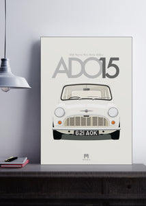 1959 Morris Mini Minor - 621AOK - Limited Edition Giclée poster print