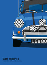 1969 Mini Cooper S - Italian Job - Blue - Limited Edition poster print