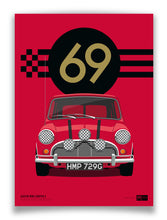 1969 Mini Cooper S - Italian Job - Red - Limited Edition poster print