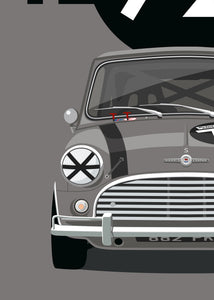 1965 Mini Cooper S - Official Licensed Acespeed™ 'Whizz' poster print