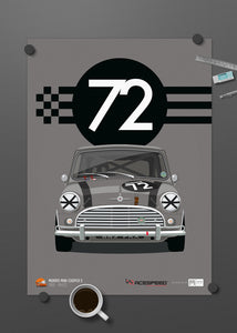 1965 Mini Cooper S - Official Licensed Acespeed™ 'Whizz' Limited Edition poster print