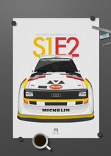 1985 Audi Sport Quattro S1 E2 Group B - Limited Edition poster print